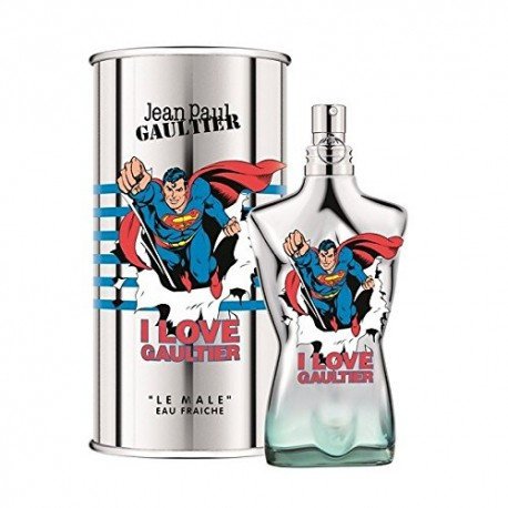 Jean Paul Gaultier I LOVE GAULTIER LE MALE SUPERMAN 2017 Limited Edition 125ml Eau Fraiche