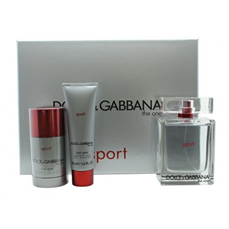 Dolce&Gabbana The One Sport Gift Set 100ml EDT + 50ml Shower Gel + 75ml Deodorant Stick