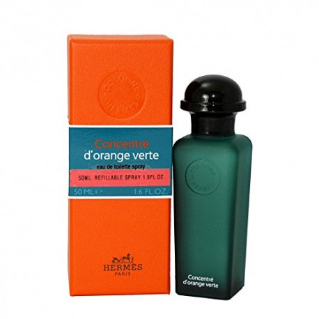 HERMES EAU D ORANGE VERTE CONCENTRE 50ML EAU DE TOILETTE VAPO,