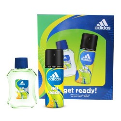 Coffret Homme Adidas Get Ready - After shave et Deodorant body spray